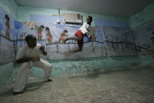 Kids doing Capoeira, Brazil